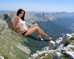 Rachel Bilsong in the mountains by Accasbel