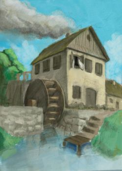 water mill by Telchy