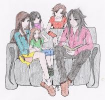 Tifa + Vince + Family by lilith-lips