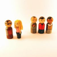 The Big Bang Theory peg people by jen-random