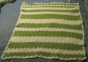 Green Waves Blanket by DiamondLeaf