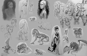 Sketches by LeBlan