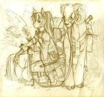 Long Long Journey -Pencil- by sambees