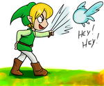 How Link has trained swordsmanship! by estefinha