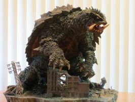 Kaibutsuya Nightmare Gamera Diorama Finished 1 by Legrandzilla