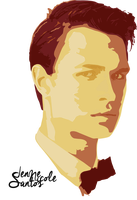 Ansel Elgort Vector Art by Unique112