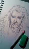 Thorin's portrait sketch by IrbisN