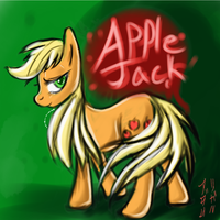 mlp applejack with no ponytail by imsokyo