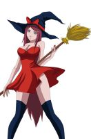 Uzumaki Kushina witch by kraddy07