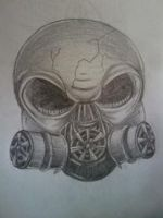 Gas Mask Skull by InkspellXii
