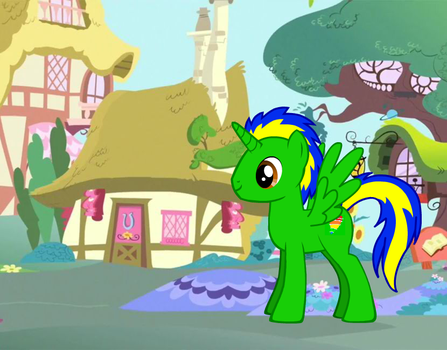 Prince Speed Tornado in Ponyville by emasan606