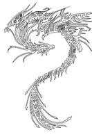 Drake LineArt by ChibreneyDragon