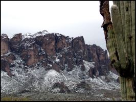 Superstition Mountains - Snow covered by andromeda
