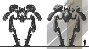 Mech Vehicle Design w/rough silhouette by pureluck13