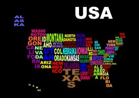 Color Burst - USA by Stephy-McFly