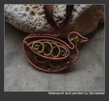 Steampunk Duck pendant by bodaszilvia
