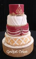 Indian Wedding Cake by gadgetcakes