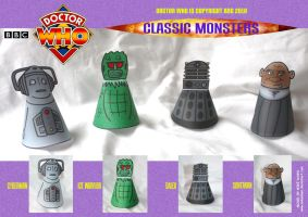 Doctor Who - Classic Monsters 2 by mikedaws