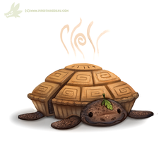 Daily Paint #1057. Tortutiere by Cryptid-Creations