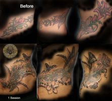 Cover up Flower Tribal first by 2Face-Tattoo