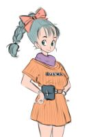 Bulma Sketch by MboogieKing
