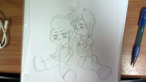 Zack and Cloud PSP by DeadBunny16