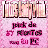 Pack de fuentes para tu PC by TutosLadyPink