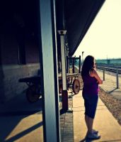 Waiting for a train 2 by simpspin