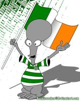Rodger the Alien Celtic Fan 2 by sookiesooker
