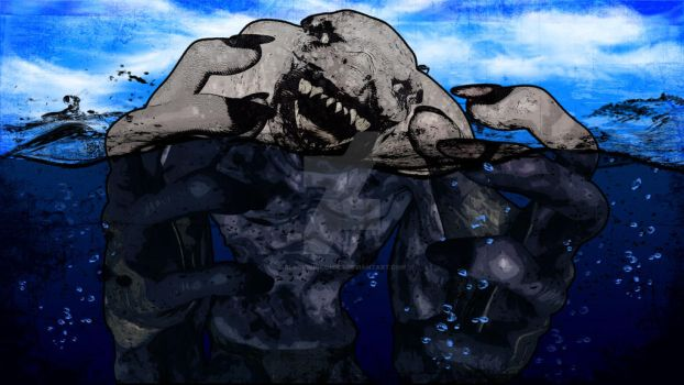 Acromite Mutant in the Water by blacksuncomics