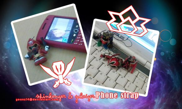 Shinkenger and Gokaiger Phone Strap by Yoonz14