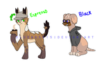 Coffee Dogs Adoptables *2/2 Open* by Alcheminty