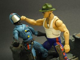 Commander v Sgt Slaughter by Shinobitron