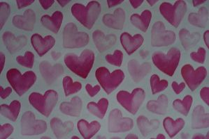 Hearts background by Quinnphotostock