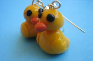 Duck Earrings by ClayMyDay