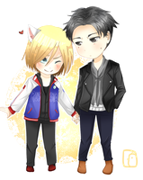 CM Otabek And Yurio by CariAguilar