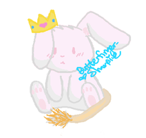 Bunny with a lion tail.... lol by Butterfinger-Sharpie