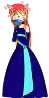 Kouichi in a lovely winter gown XD by ShualeeCreativity