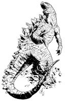RAW Showcase Exclusive #2 - Godzilla by LRitchieART