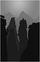 Mountains Silhouette by Judan