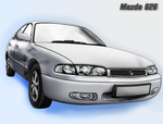 My Mazda 626 by Fragsey