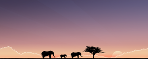 The Elephants. Wide, blue. by lassekongo83