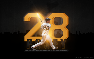 Buster Posey Wallpaper 2011 by BrittainDesigns