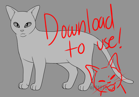 Free Sai Cat Lineart, Base vs.02 BETA by Roneri