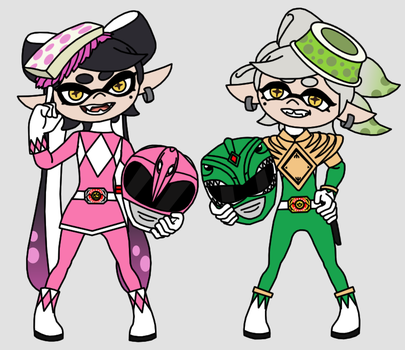 Mighty Morphin Squid Sisters by Death-Driver-5000