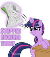 Twilight Sparkle Stopped Reading There by InfernalDalek
