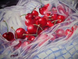 Still life with cherries no. 2 by p-e-a-k