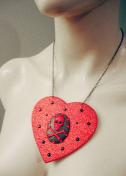 Cameo Heart Necklace by Sophie-Adamson