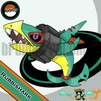 090. Rubbishark by bromos-pokemon