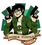 Homestuck:: Double Pistols and a wink by Shilloshilloh